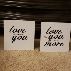 Two small home decor signs